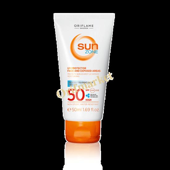 تصویر کرم ضد آفتاب و ضد پیری محافظ UV و ضد آفتاب سان زون  Sun Zone با spf50