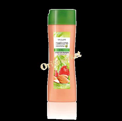 تصویر شامپو مخصوص موهای رنگ شده با عصاره توت فرنگی و بادام