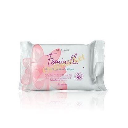 تصویر دستمال مرطوب نرم و ملایم بانوان Feminelle Refreshing Intimate Wipes