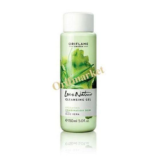 تصویر ژل شستشوی صورت آلوورا (مخصوص پوست های نرمال و مختلط) Love Nature cleansing Gel Aloe vera