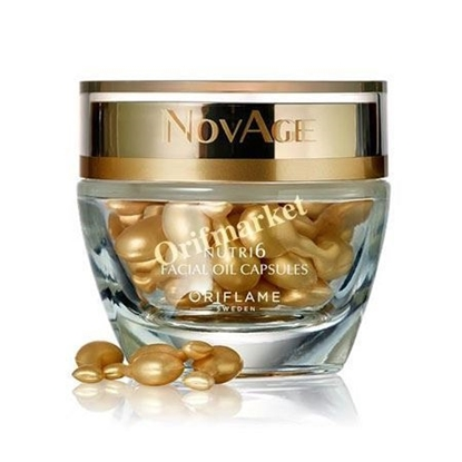 تصویر کپسول مغذی نویج Nutri6 Facial Oil Capsules