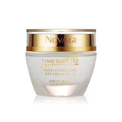 تصویر  کرم روز بالای 50 سال با ⚜️Novage Time Restore⚜️  Multi Correcting Day Cream SPF 15