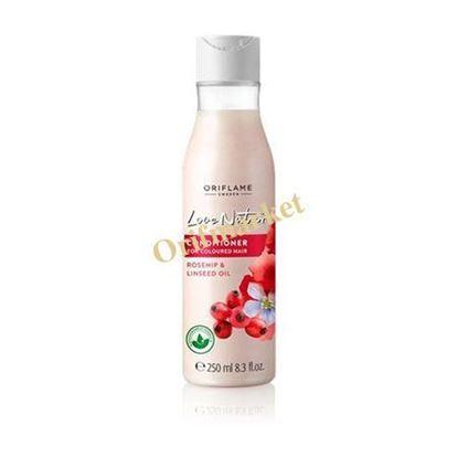 تصویر نرم کننده مخصوص موهای رنگ شده لاو نیچر Love Nature Conditioner for Coloured Hair Rosehip & Linseed Oil