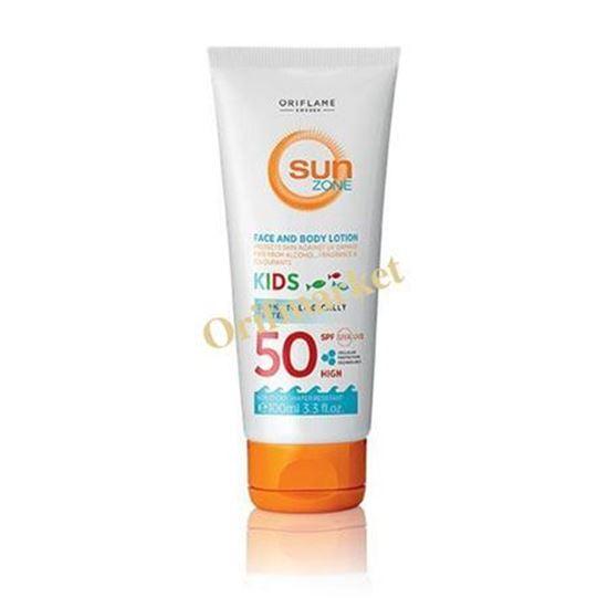 تصویر لوسیون صورت و بدن ضد آفتاب سان زون کودکان Sun Zone Face & Body Lotion Kids SPF 50 High