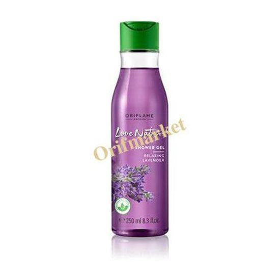 تصویر شامپو بدن ريلكس کننده اسطوقدوس Love Nature Shower Gel Relaxing Lavender