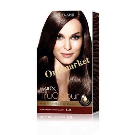 تصویر رنگ مو اوریفلیم HairX TruColour قهوه ای پر رنگ (5.25)