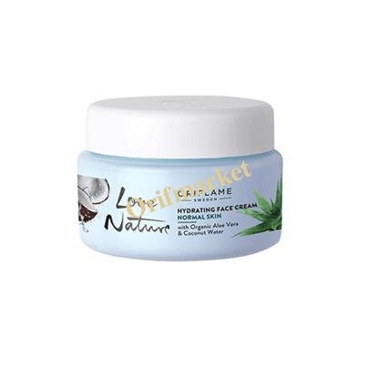 تصویر کرم مرطوب کننده با عصاره نارگیل و آلوورا Love Nature Hydrating Face Cream with Organic Aloe Vera & Coconut Water