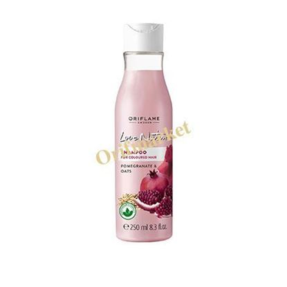 تصویر شامپو انار و جو مخصوص موهای رنگ شده لاونیچر Pomegranate & Oats Shampoo For Coloured Hair