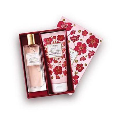تصویر ست ادوتویلت و لوسیون زنانه با رایحه شکوفه گیلاس Women's Collection Delicate Cherry Blossom Gift Set