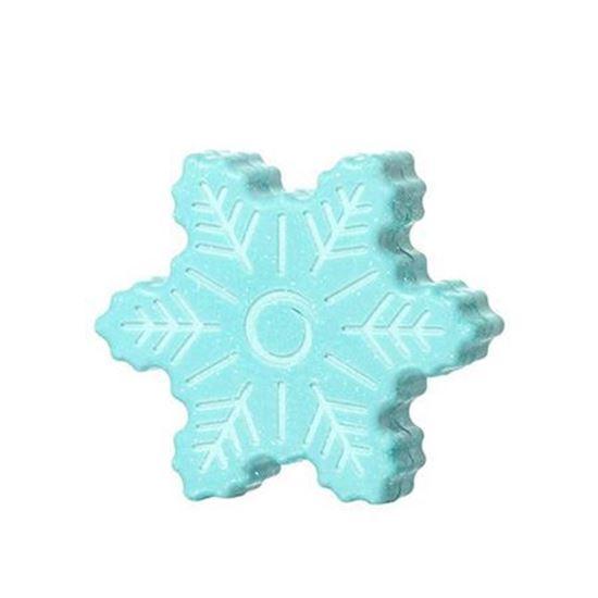 تصویر صابون با طرح دانه برف