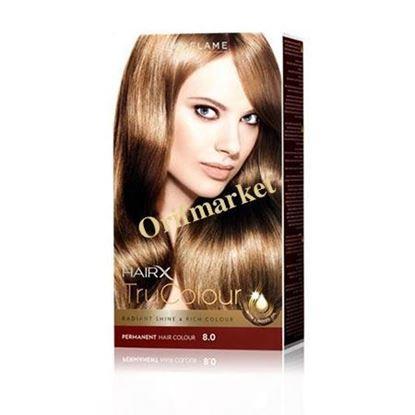 تصویر رنگ مو اوریفلیم HairX TruColour بلوند متوسط (8.0)