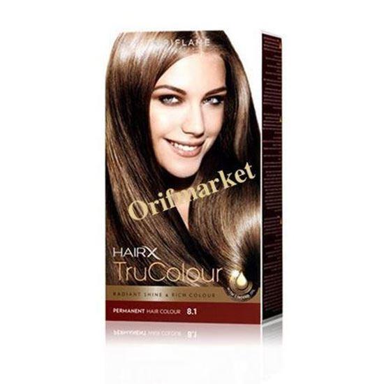 تصویر رنگ مو اوریفلیم HairX TruColour بلوند دودی متوسط (8.1)