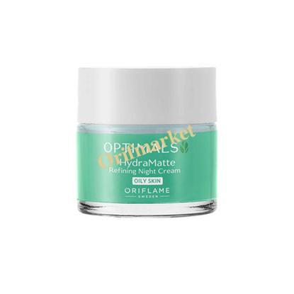 تصویر کرم شب آبرسان و مات کننده اپتیمالز Optimals Hydra matte refining night cream oily skin