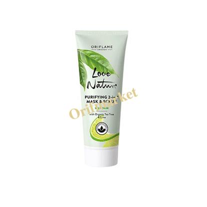 تصویر ماسک و اسکراب پاکسازی کننده با عصاره درخت چای و لیمو Love Nature Purifying 2-in-1 Mask & Scrub With Organic Tea Tree & Lime