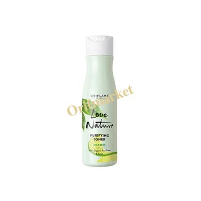 تصویر تونر تمیز کننده منافذ حاوی سالیسیک اسید با عصاره درخت چای و لیمو 🌿Love Nature Purifying Toner With Organic Tea Tree & Lime