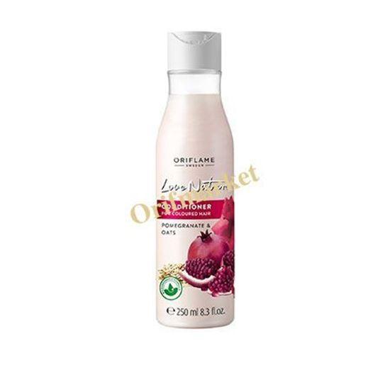 تصویر نرم کننده انار و جو مخصوص موهای رنگ شده لاونیچر Pomegranate & Oats Conditioner For Coloured Hair