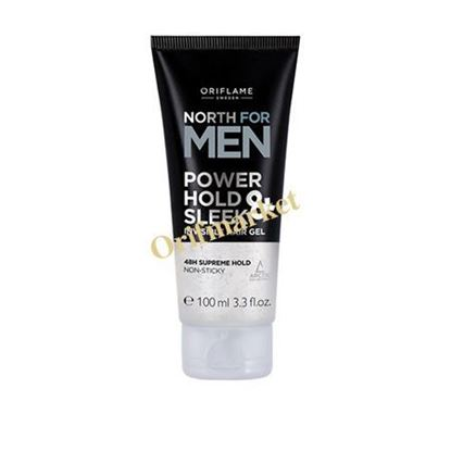 تصویر ژل مو نورث مخصوص آقایان North for Men  Power Hold & Sleek