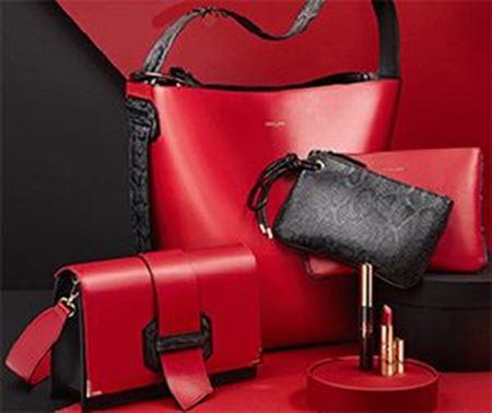 تصویر برای دسته ست کیف قرمز و مشکی اوریفلیم