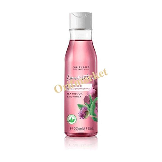 شامپو کنترل کننده شوره سر لاونیچر Love Nature Shampoo For Dandruff Control Tea Tree oil & Burdock