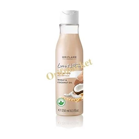شامپو گندم و نارگیل لاونیچر (۲۵۰ میل) Love nature shampoo for dry hair wheat and coconut oil