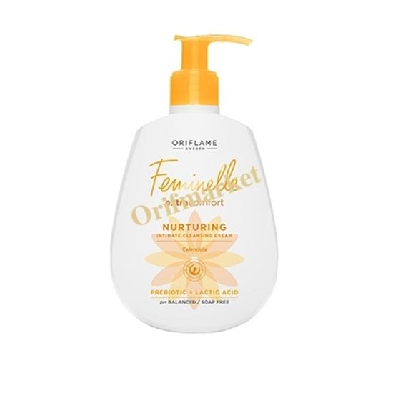 تصویر کرم شستشوی فمینله بانوان حاوی کالاندولا (گل همیشه بهار )FEMINELLE Extra Comfort Nurturing Intimate Cleansing Cream Calendula