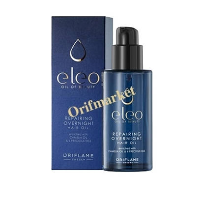 روغن مو الئو تغذیه کننده و ترمیم کننده در طول شب ELEO Repairing Overnight Hair Oil
